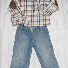 M&S jeans & shirt outfit 12-18 months