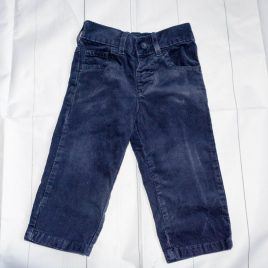 M&S navy cord trousers 12-18 months