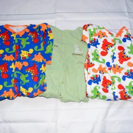 x3 dinosaur sleepsuits 12-18 months