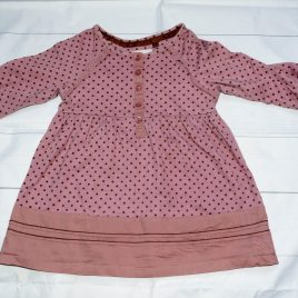 Next purple spotty tunic top 12-18 months