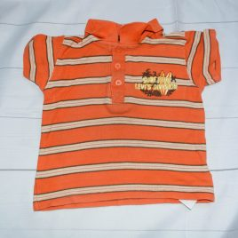 Orange stripy t-shirt 18-24 months