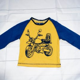 Yellow motorcycle top 12-18 months