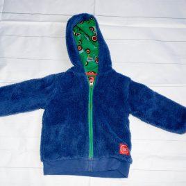 Joules blue fleece cardigan hoodie 18-24