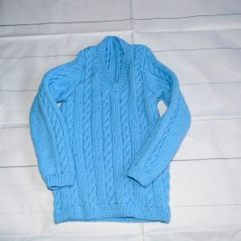 Hand knitted blue jumper 1-2 years