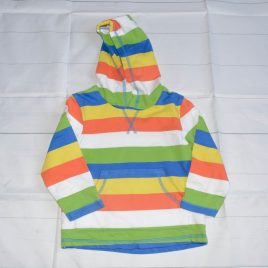 Multi coloured stripy hoodie top 18-24 months