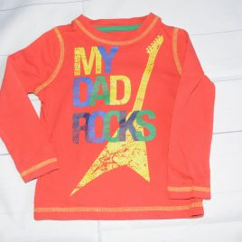 Red 'My Dad Rocks' top 18-24 months