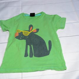 Next green dog t-shirt 18-24 months