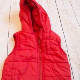 Red bodywarmer gilet 3-6 months