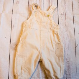 Cream cord dungarees 0-3 months