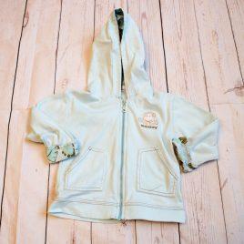 Light aqua monkey hoodie 12-18 months