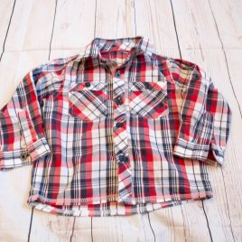 Red & navy shirt 12-18 months