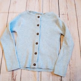 Next blue ribbed cardigan 3-4 years