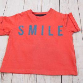 M&S 'Smile' t-shirt 6-9 months