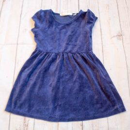 H&M navy velvet dress 2-4 years