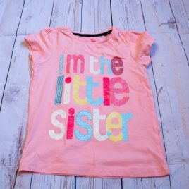 Pink 'I'm the little sister ' t-shirt 3-4 Years