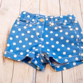 Boden blue spotty shorts age 2