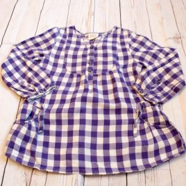 Mini Boden purple tunic top 3-4 Years