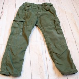 H&M green cargo trousers 3-4 years