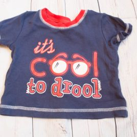 'it's cool to drool ' t-shirt 3-6 months