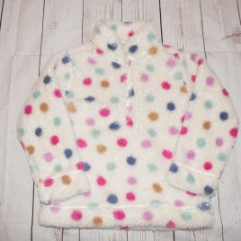 Spotty fleece jumper 3-4 years