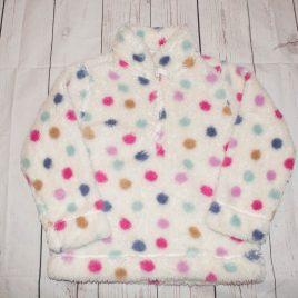 Spotty fleece jumper 3-4 years