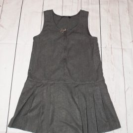 Grey school pinafore 3-4 years