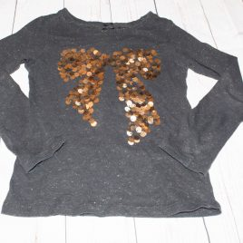 Next black sparkly sequin bow top 4 Years