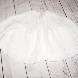 White knitted cardigan 6-9 months