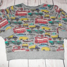 Grey car & busses transport jumper 2-3 years