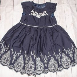 Navy embroidered dress 18-24 months