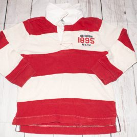 Oshkosh red stripy rugby top 4 years