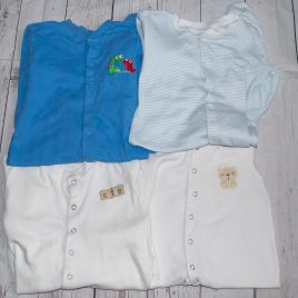 x4 sleepsuits 9-12 months