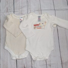 x2 long sleeved bodysuits newborn