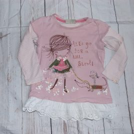 Next pink tunic/top 12-18 months