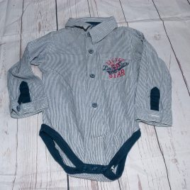 shirt style long sleeved bodysuit 9-12 months