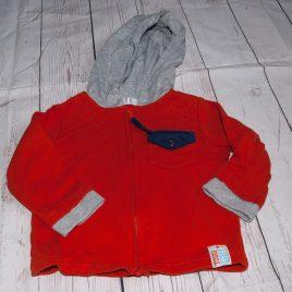 Orange hoodie cardigan 9-12 months