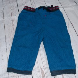 Blue checked trousers 9-12 months