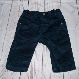 Next cord navy trousers 3-6 months