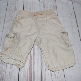 GAP cream rolled leg trousers 3-6 months