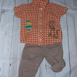 Tigger shirt & rolled leg trousers outfit 3-6 months