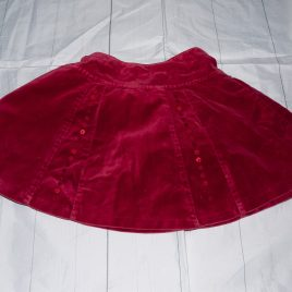Next red velvet skirt 18-24 months