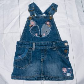 Denim pinafore dress 18-24 months