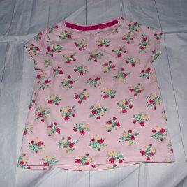 Pink flowers t-shirt 18-24 months