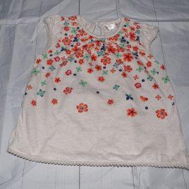 Oatmeal flowers t-shirt 18-24 months