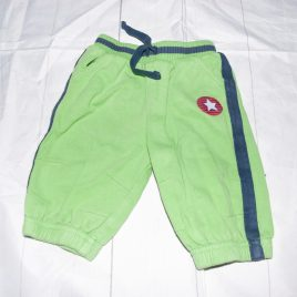 Green jogging trousers 3-6 months