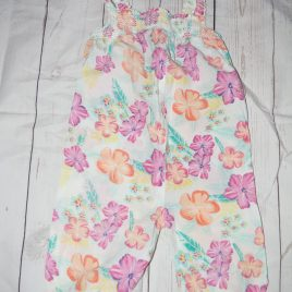 Flowers dungaree / playsuit 18-24 months