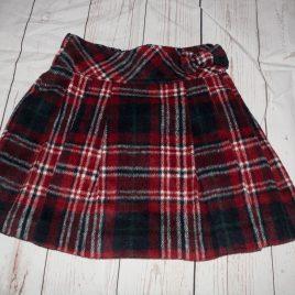 Red & navy tartan skirt 3-4 years