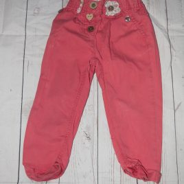 Next coral pink trousers 18-24 months