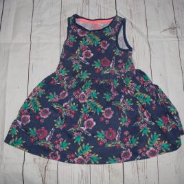 Navy flowers dress 18-24 months