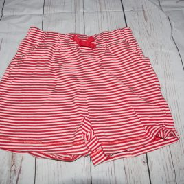 Red& white stripy shorts 3-4 years